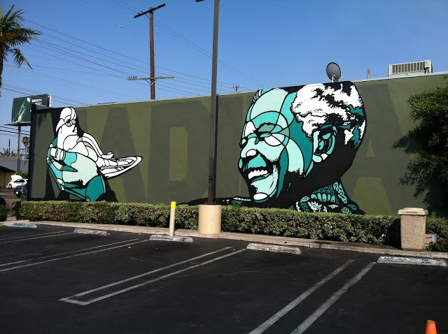 David Flores New Mural In Los Angeles, USA