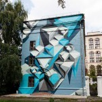 Kiosk New Mural In Moscow, Russia