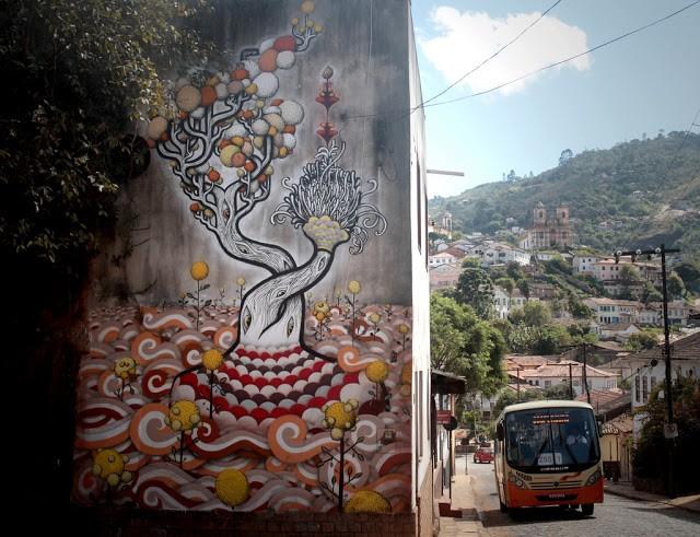 Thiago Alvim New Mural In Ouro Preto, Brazil