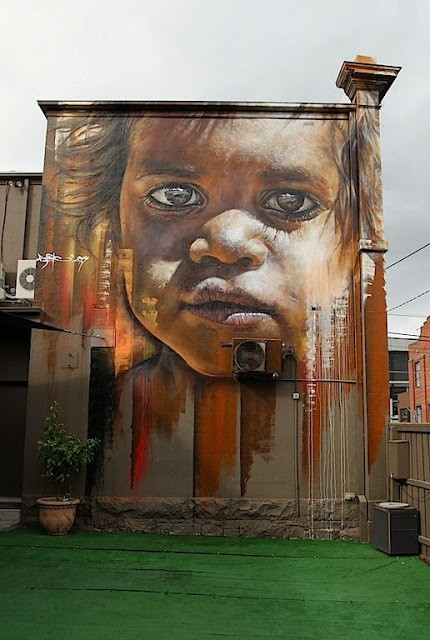 Matt Adnate New Mural In Melbourne, Australia