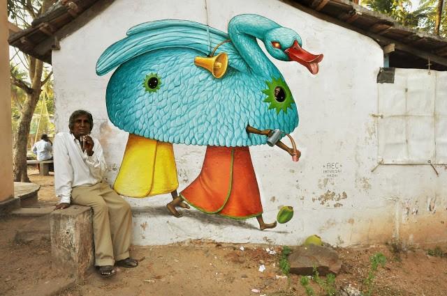 Interesni Kazki New Murals In Varkala, India