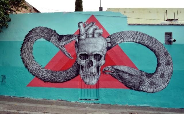 Alexis Diaz New Mural For Board Dripper in Queretaro, Mexico