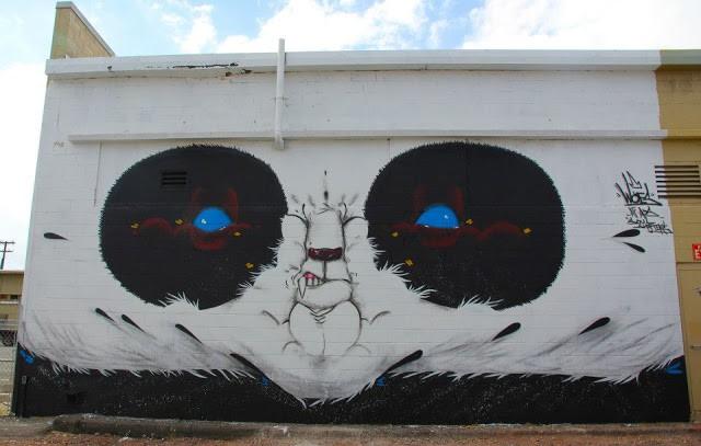 Angry Woebots New Mural In Honolulu, Hawaii