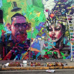 Aryz x David Choe New Mural In Los Angeles, USA