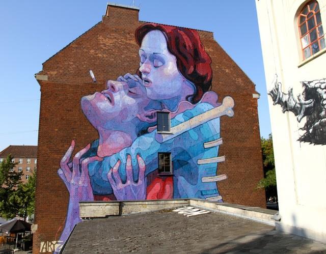Aryz New Mural In Copenhagen, Denmark
