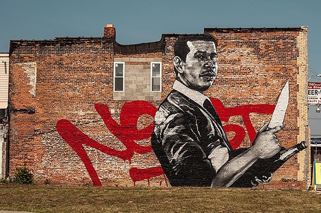 """Askew1 """"Tribute To NEKST"""" New Mural In Detroit, USA"""
