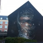 Axel Void paints a new mural in Aalborg, Denmark