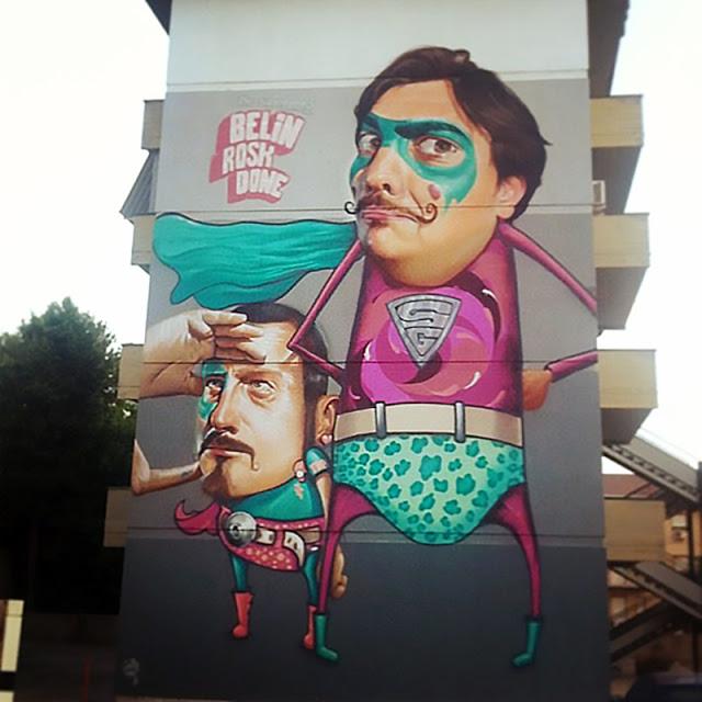Belin New Mural In Caltanissetta, Italy