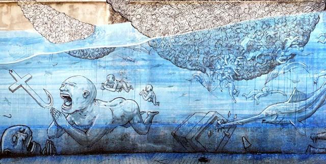 Blu New Mural In Messina, Italy