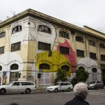 Blu New Mural In Progress, Rome, Italy