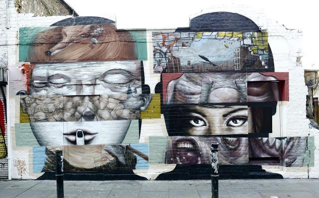 Bom.K x Liliwenn New Mural In London, UK