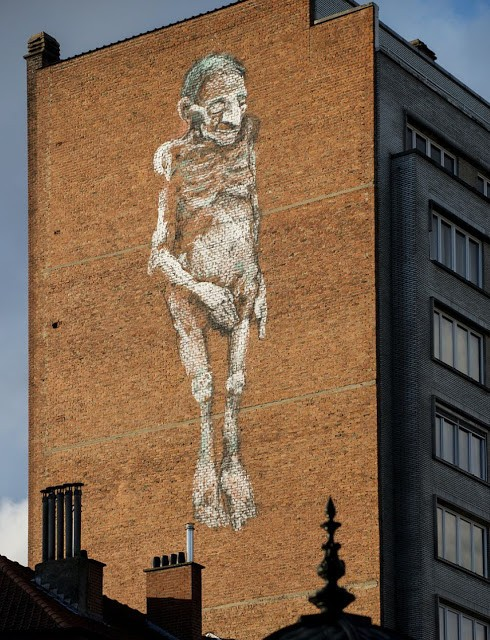 Bonom New Mural In Brussels, Belgium