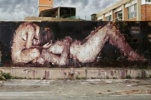 "Borondo ""Piedad"" New Mural For MAAM – Rome, Italy"