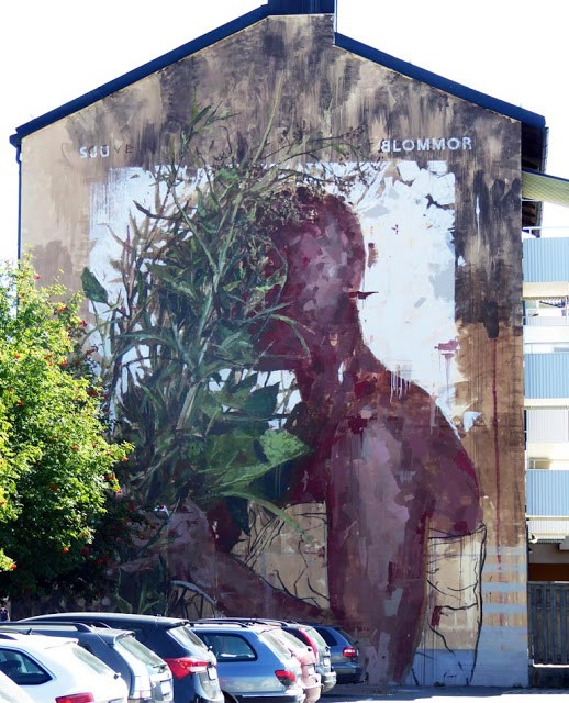 Borondo unveils a series of new pieces in Nässjö, Sweden