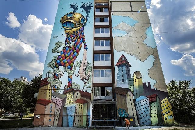 Bozko New Mural In Sofia, Bulgaria