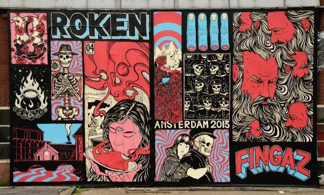Broken Fingaz New Mural In Amsterdam, Netherlands