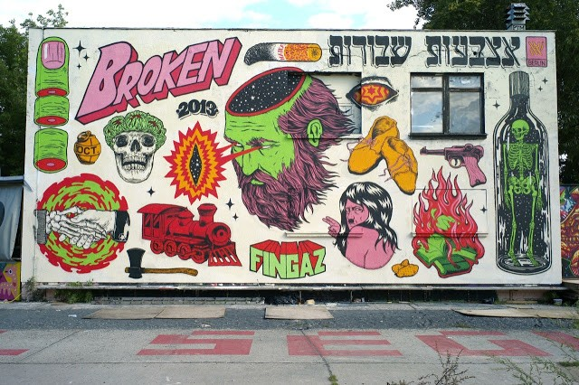 Broken Fingaz New Street Art Mural For Urban Spree In Berlin, Germany