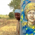 A series of new pieces by C215 in Rwanda