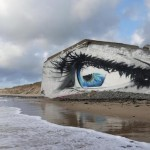 Cece unveils a new mural on the beach of Siouville-Hague, France