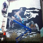 Conor Harrington New Mural In Progress, Bristol