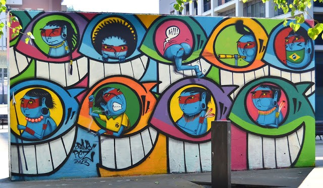 PEZ x Cranio New Mural In Barcelona, Spain