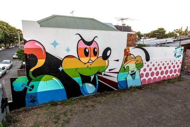 Dabs Myla New Mural In Melbourne, Australia