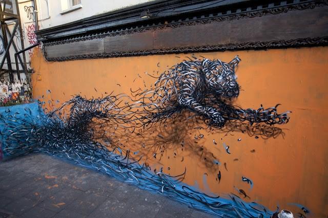 DALeast New Mural In London, UK