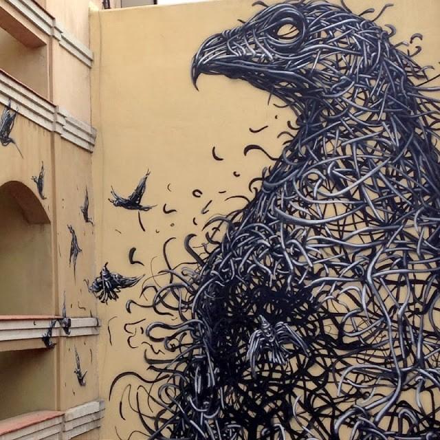 "DALeast New Mural For ""Maus Malaga"" – Malaga, Spain"