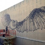 DALeast New Mural In Progress, Honolulu, Hawaii