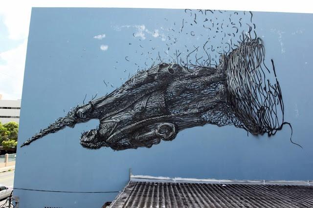 DALeast New Mural For Los Muros Hablan '13 – San Juan, Puerto Rico