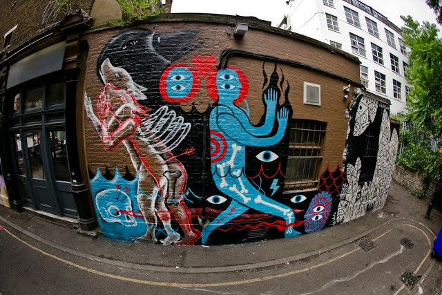 Klone x David Shillinglaw New Murals In London, UK