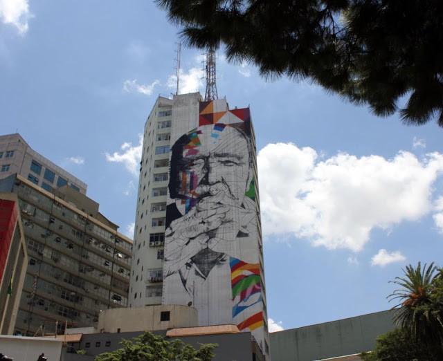 Eduardo Kobra New Mural In Progress, Sao Paulo, Brazil