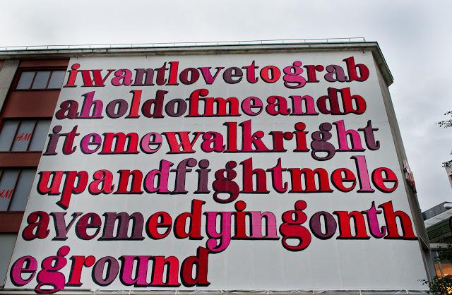 Ben Eine New Mural In Stavanger, Norway