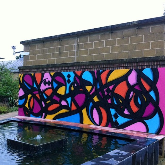 El Seed New Mural At the University of Exeter – Exeter, UK