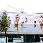 Ernest Zacharevic New Mural In Vilnius, Lithuania