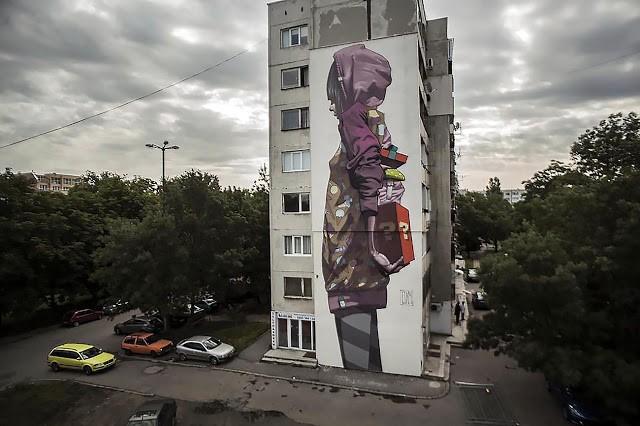 Etam Cru New Mural In Sofia, Bulgaria