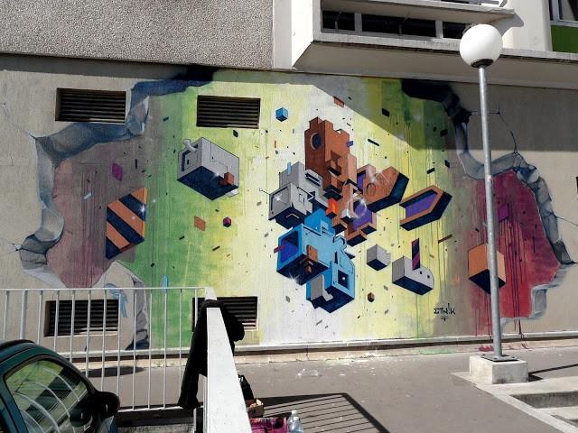 Etnik New Mural In Vitry, France