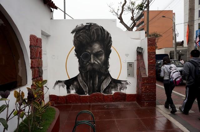 Evoca1 New Mural In Lima, Peru