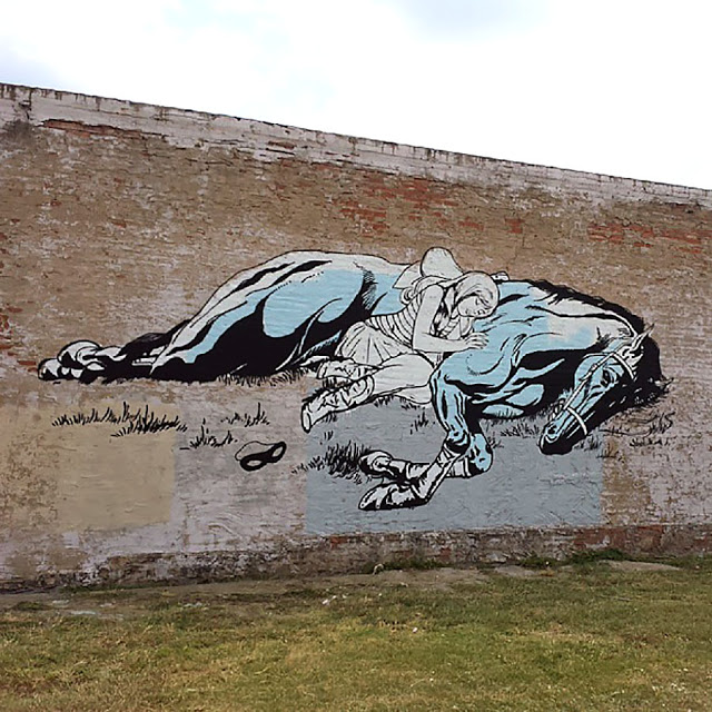 Faile New Street Art Mural In Dallas, USA