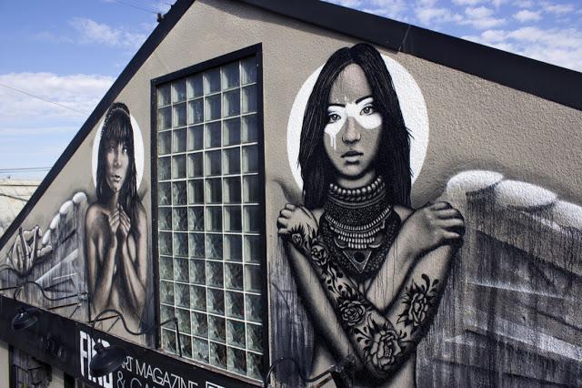 Fin DAC x Angelina Christina New Mural In Costa Mesa, USA