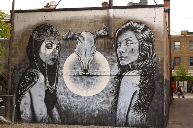Fin DAC x Angelina Christina New Mural In Montreal, Canada