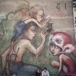Herakut New Mural In Kathmandu, Nepal