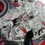 HowNosm New Mural In Progress, New York City, USA