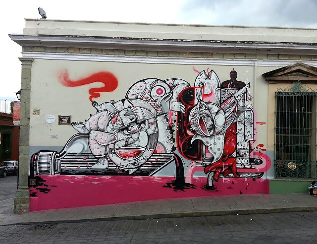 How & Nosm New Mural In Oaxaca, Mexico