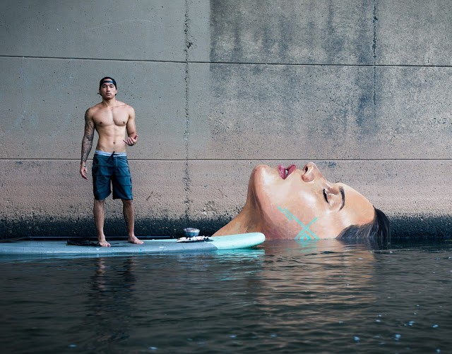 Hula unveils a new aquatic mural in Hawaii