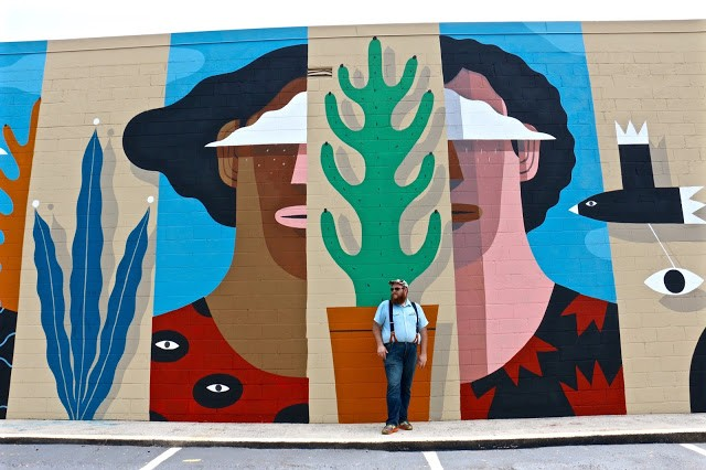 """Wallter"", a new mural by Agostino Iacurci in Atlanta, USA"