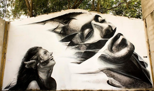iNO x George P. Kavounis New Street Art Mural In Athens, Greece