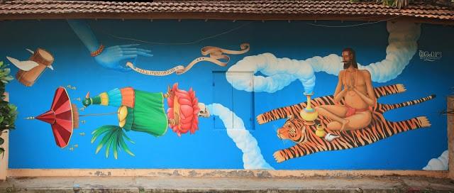 Interesni Kazki New Mural In Varkala, India