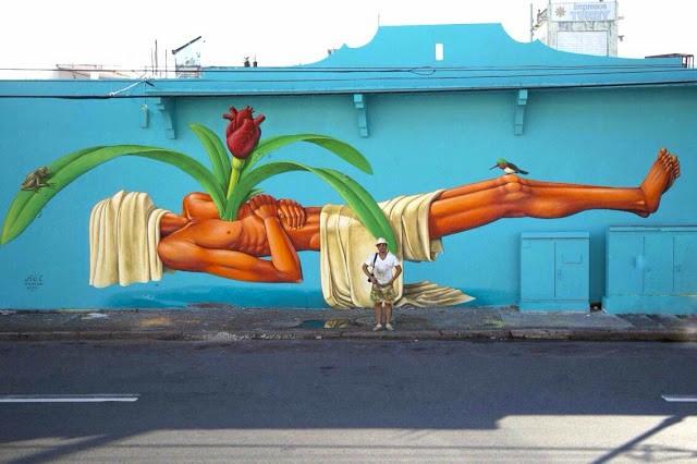 Interesni Kazki New Mural For Los Muros Hablan '13 - San Juan, Puerto Rico