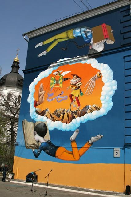 Seth x Interesni Kazki New Mural In Kiev, Ukraine
